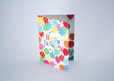 Greeting Card Printing Birthday Balloons