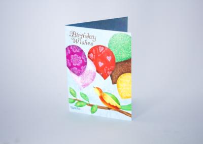 Greeting Card Printing Glitter Birthday Wishes