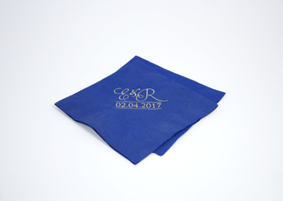 Personalized Wedding Napkins Gold Foil Cocktail