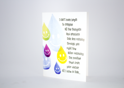 greeting card printing four color smile