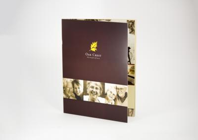 Saddle Stitched Pocket Folder Brochure
